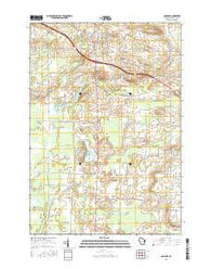 Bonduel Wisconsin Current topographic map, 1:24000 scale, 7.5 X 7.5 Minute, Year 2016