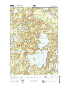 Boulder Junction Wisconsin Current topographic map, 1:24000 scale, 7.5 X 7.5 Minute, Year 2015