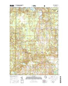 Breed Wisconsin Current topographic map, 1:24000 scale, 7.5 X 7.5 Minute, Year 2015