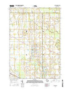 Brillion Wisconsin Current topographic map, 1:24000 scale, 7.5 X 7.5 Minute, Year 2016 from Wisconsin Map Store