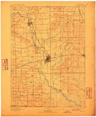 Brodhead Wisconsin Historical topographic map, 1:62500 scale, 15 X 15 Minute, Year 1893