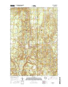 Brule Wisconsin Current topographic map, 1:24000 scale, 7.5 X 7.5 Minute, Year 2015