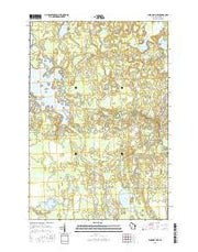 Burrows Lake Wisconsin Current topographic map, 1:24000 scale, 7.5 X 7.5 Minute, Year 2015 from Wisconsin Maps Store
