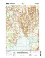Busseyville Wisconsin Current topographic map, 1:24000 scale, 7.5 X 7.5 Minute, Year 2016 from Wisconsin Map Store
