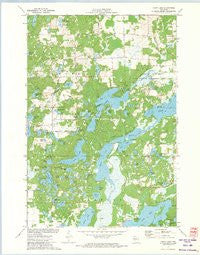 Chain Lake Wisconsin Historical topographic map, 1:24000 scale, 7.5 X 7.5 Minute, Year 1972