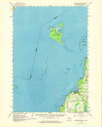 Chambers Island Wisconsin Historical topographic map, 1:62500 scale, 15 X 15 Minute, Year 1961