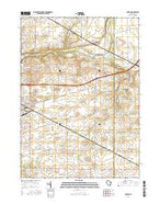 Clinton Wisconsin Current topographic map, 1:24000 scale, 7.5 X 7.5 Minute, Year 2016 from Wisconsin Map Store