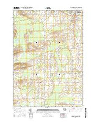 Clintonville South Wisconsin Current topographic map, 1:24000 scale, 7.5 X 7.5 Minute, Year 2016