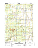 Coloma NW Wisconsin Current topographic map, 1:24000 scale, 7.5 X 7.5 Minute, Year 2015 from Wisconsin Map Store