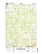 Coloma SW Wisconsin Current topographic map, 1:24000 scale, 7.5 X 7.5 Minute, Year 2015 from Wisconsin Map Store