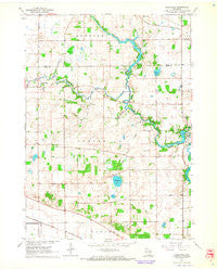 Cooksville Wisconsin Historical topographic map, 1:24000 scale, 7.5 X 7.5 Minute, Year 1961