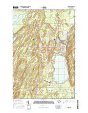 Crandon Wisconsin Current topographic map, 1:24000 scale, 7.5 X 7.5 Minute, Year 2015 from Wisconsin Maps Store