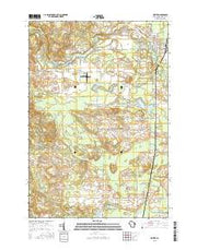 Crivitz Wisconsin Current topographic map, 1:24000 scale, 7.5 X 7.5 Minute, Year 2015 from Wisconsin Maps Store