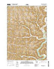 Crowley Ridge Wisconsin Current topographic map, 1:24000 scale, 7.5 X 7.5 Minute, Year 2016 from Wisconsin Maps Store