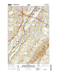 De Pere Wisconsin Current topographic map, 1:24000 scale, 7.5 X 7.5 Minute, Year 2016