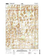 Deerfield Wisconsin Current topographic map, 1:24000 scale, 7.5 X 7.5 Minute, Year 2016 from Wisconsin Map Store