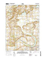 Delavan Wisconsin Current topographic map, 1:24000 scale, 7.5 X 7.5 Minute, Year 2016 from Wisconsin Map Store