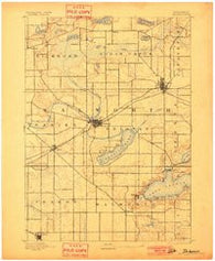Delavan Wisconsin Historical topographic map, 1:62500 scale, 15 X 15 Minute, Year 1893