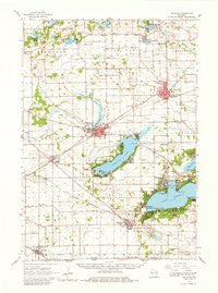 Delavan Wisconsin Historical topographic map, 1:62500 scale, 15 X 15 Minute, Year 1960