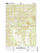 Dewey Marsh Wisconsin Current topographic map, 1:24000 scale, 7.5 X 7.5 Minute, Year 2015 from Wisconsin Map Store