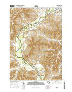 Dodge Wisconsin Current topographic map, 1:24000 scale, 7.5 X 7.5 Minute, Year 2015 from Wisconsin Map Store