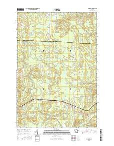 Dunbar Wisconsin Current topographic map, 1:24000 scale, 7.5 X 7.5 Minute, Year 2015