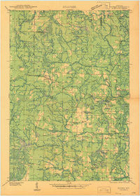 Dunbar Wisconsin Historical topographic map, 1:48000 scale, 15 X 15 Minute, Year 1947
