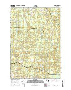 Dunbar NE Wisconsin Current topographic map, 1:24000 scale, 7.5 X 7.5 Minute, Year 2015