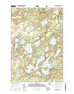Eagle River East Wisconsin Current topographic map, 1:24000 scale, 7.5 X 7.5 Minute, Year 2015 from Wisconsin Map Store