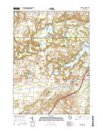 East Troy Wisconsin Current topographic map, 1:24000 scale, 7.5 X 7.5 Minute, Year 2016 from Wisconsin Map Store