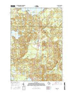Elcho Wisconsin Current topographic map, 1:24000 scale, 7.5 X 7.5 Minute, Year 2015 from Wisconsin Map Store
