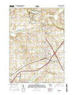 Elkhorn Wisconsin Current topographic map, 1:24000 scale, 7.5 X 7.5 Minute, Year 2016 from Wisconsin Map Store