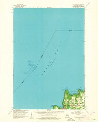 Ellison Bay Wisconsin Historical topographic map, 1:62500 scale, 15 X 15 Minute, Year 1960