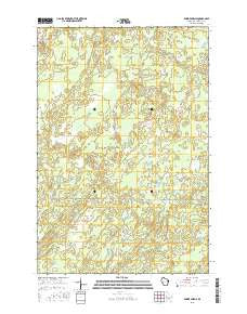 Empire Swamp Wisconsin Current topographic map, 1:24000 scale, 7.5 X 7.5 Minute, Year 2015