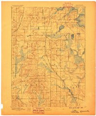 Evansville Wisconsin Historical topographic map, 1:62500 scale, 15 X 15 Minute, Year 1889