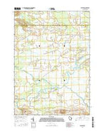 Fairburn Wisconsin Current topographic map, 1:24000 scale, 7.5 X 7.5 Minute, Year 2016 from Wisconsin Map Store