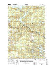 Florence East Wisconsin Current topographic map, 1:24000 scale, 7.5 X 7.5 Minute, Year 2015 from Wisconsin Maps Store