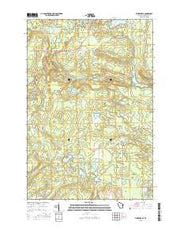 Florence SE Wisconsin Current topographic map, 1:24000 scale, 7.5 X 7.5 Minute, Year 2015 from Wisconsin Maps Store