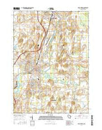 Fort Atkinson Wisconsin Current topographic map, 1:24000 scale, 7.5 X 7.5 Minute, Year 2016 from Wisconsin Map Store