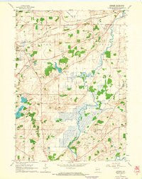Genesee Wisconsin Historical topographic map, 1:24000 scale, 7.5 X 7.5 Minute, Year 1960