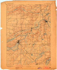 Geneva Wisconsin Historical topographic map, 1:62500 scale, 15 X 15 Minute, Year 1893