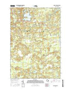 George Lake Wisconsin Current topographic map, 1:24000 scale, 7.5 X 7.5 Minute, Year 2015 from Wisconsin Map Store