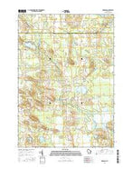 Germania Wisconsin Current topographic map, 1:24000 scale, 7.5 X 7.5 Minute, Year 2016 from Wisconsin Map Store