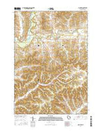 Gilmanton Wisconsin Current topographic map, 1:24000 scale, 7.5 X 7.5 Minute, Year 2015 from Wisconsin Map Store