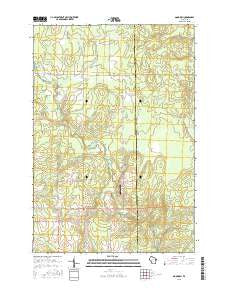 Goodrich Wisconsin Current topographic map, 1:24000 scale, 7.5 X 7.5 Minute, Year 2015