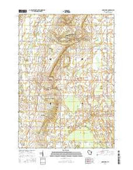 Greenleaf Wisconsin Current topographic map, 1:24000 scale, 7.5 X 7.5 Minute, Year 2016