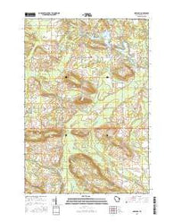 Gresham Wisconsin Current topographic map, 1:24000 scale, 7.5 X 7.5 Minute, Year 2016