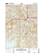 Hales Corners Wisconsin Current topographic map, 1:24000 scale, 7.5 X 7.5 Minute, Year 2016 from Wisconsin Map Store