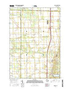 Hancock Wisconsin Current topographic map, 1:24000 scale, 7.5 X 7.5 Minute, Year 2015 from Wisconsin Map Store