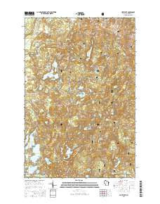 Hart Lake Wisconsin Current topographic map, 1:24000 scale, 7.5 X 7.5 Minute, Year 2015